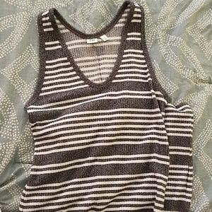 Sleeveless, striped summer dress